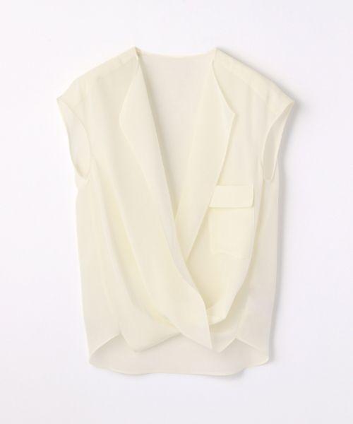 TOMORROWLAND(トゥモローランド) 公式ファッション通販サイト/シルクデシン カシュクールブラウス(シャツ・ブラウス)|セレクトスクエア