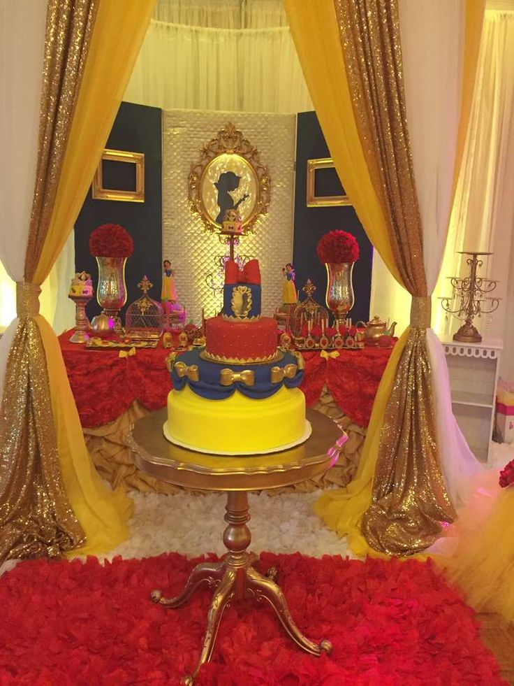 Amazing cake at a Snow White birthday party! See more party ideas at CatchMyParty.com!
