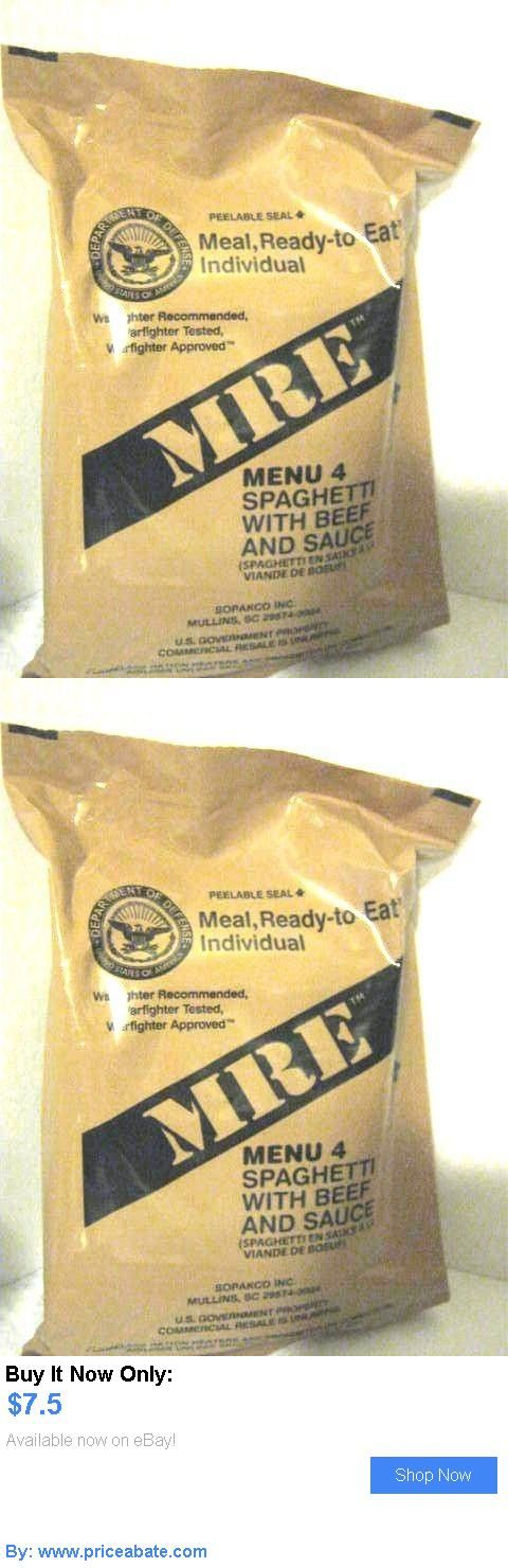 Food And Drink: Mre Menu 4 Spaghetti With Beef And Sauce (Meal, Ready-To-Eat, Individual) Sealed BUY IT NOW ONLY: $7.5 #priceabateFoodAndDrink OR #priceabate