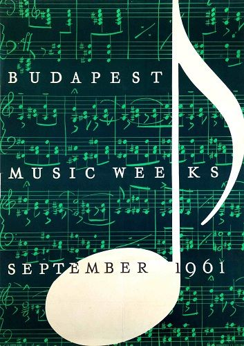 Budapest Music Weeks 1961 - Get this poster for $120 as part of our Winter Sale until the end of January!  Check all the posters here: goo.gl/FmCJaC