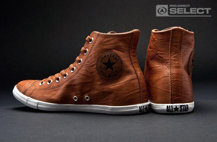 Converse - Chuck Taylor All Star Slim - HI Cut - Brown - Mens Shoes | Raddest Men's Fashion Looks On The Internet: http://www.raddestlooks.org