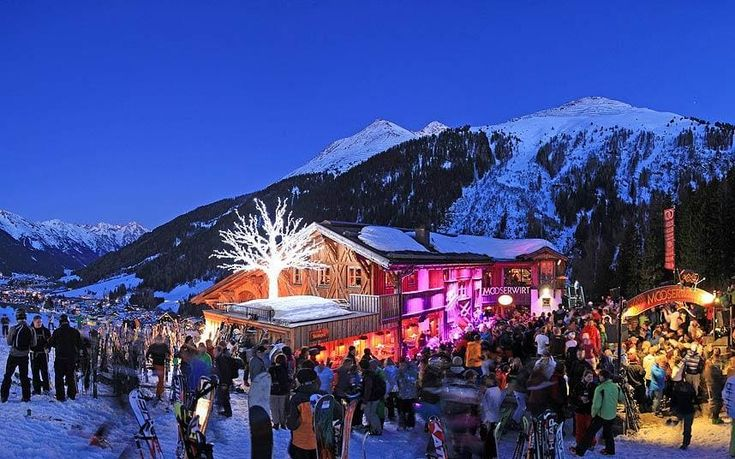 St Anton is famous for its legendary après