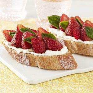 Strawberry Ricotta Bruschetta Recipe – Easy Summer Fruit Recipes – Good Housekee