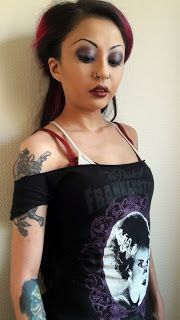 Caroline Sometimes: Heaven Or Las Vegas  Goth make-up and hair inspired by Bride of Frankenstein