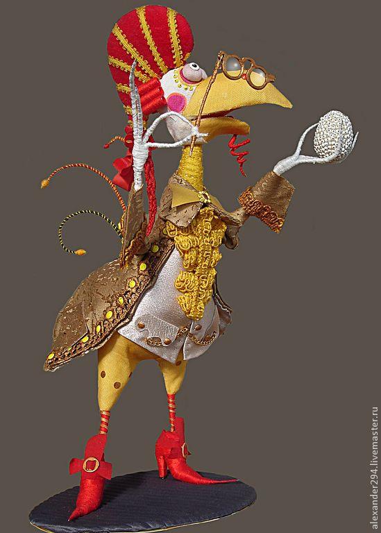 Купить Петушок-3 - кукла, петушок, яйцо, гребень, комзол, кюлоты, ткань, дерево, металл