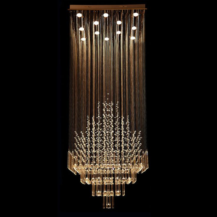 Byb 174 Modern Chandelier Rain Drop Lighting Square Crystal