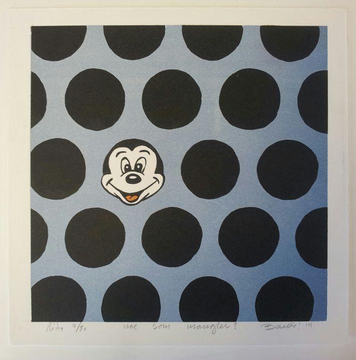 """Lithography """"Noe som mangler"""". 28x28 cm. Artist: Ronny Bank. Want it? Go to http://artbyhand.no/produkt/billedkunst/noe-som-mangler"""