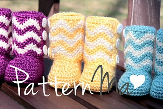Chevron Booties Crochet Pattern