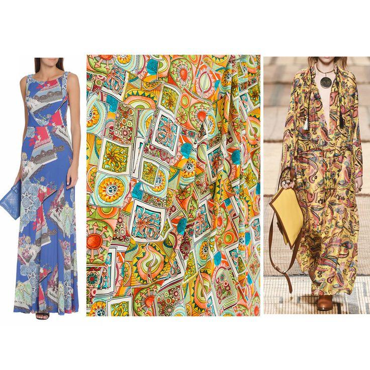 Летние модели платьев от Etro. Ткани Etro в Идее