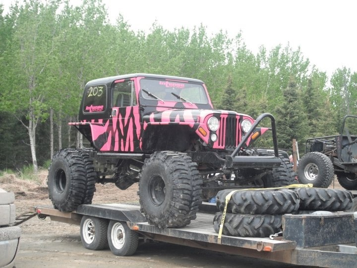 pink jeep  zebra pink jeep  AK jeep  Winner at the Mud Drags  MY JEEP!