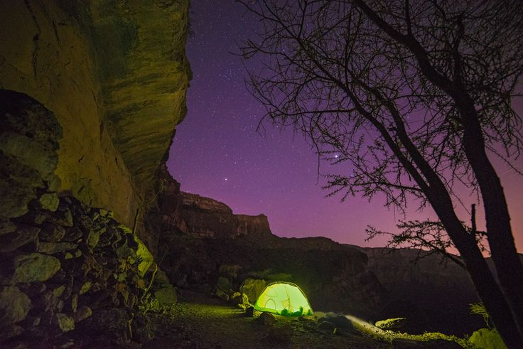 """Jebel Shams Under Stars - Camping out along the canyon wall known as """"the balcony walk"""" in Jebel Shams the highest point in Arabia."""