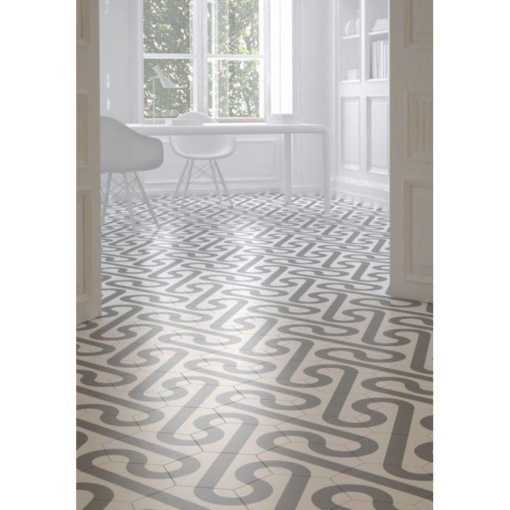 Roll White Grey 24.8cm 28.5cm Porcelain flooring, Wall
