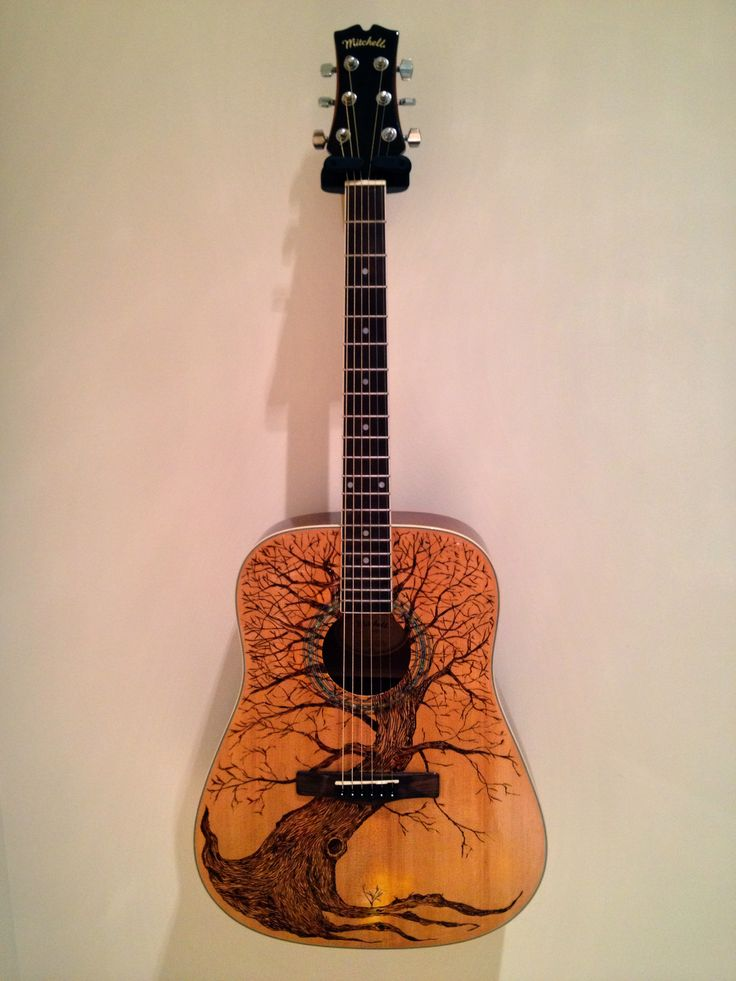1024 best images about pyrography on pinterest for Acoustic guitar decoration
