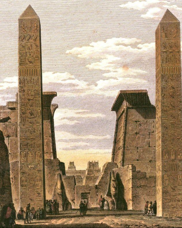 """En 1829, Mohammed Alí Pachá, virrey turco de Egipto """"donó"""" a Francia (por el módico precio de 300.000 francos en oro) los dos obeliscos del templo de Luxor en concepto de reconocer su ayuda en la modernización del país"""