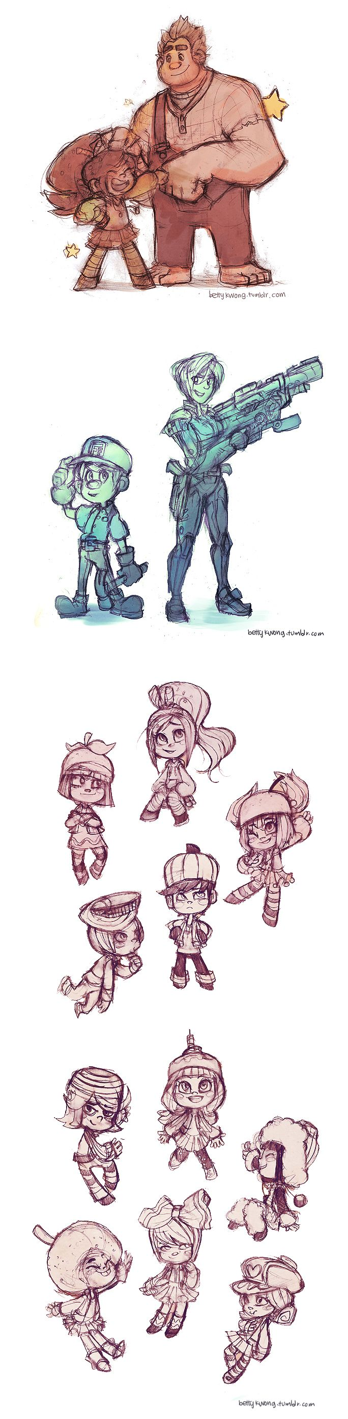 Wreck-It Ralph. I love this a lot. And hey-Vanellope with long hair is not a bad idea!