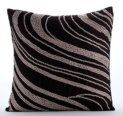 Designer Brown Pillow Cases, Sequins Swirls Pillows Cover... https://www.amazon.com/dp/B016H8WEW0/ref=cm_sw_r_pi_dp_x_DWD.yb84N4QW1