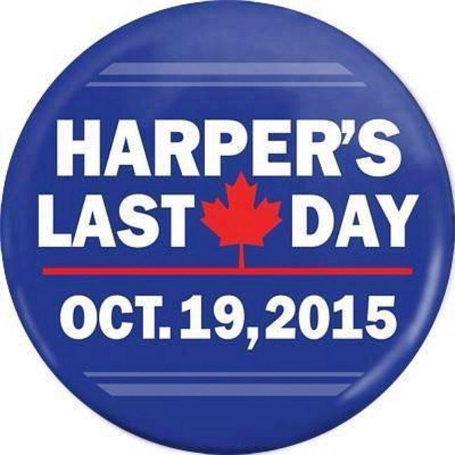 Vote for Harper's last day, October 19, 2015