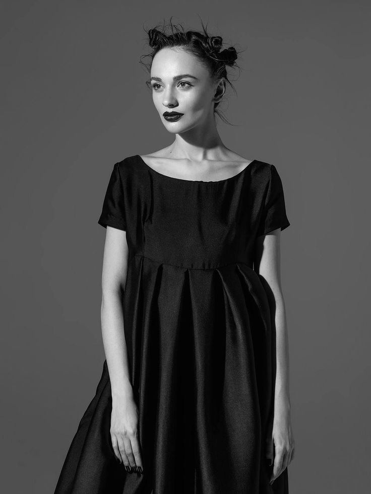 Шелковое вечернее платье