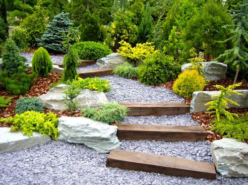 Japanese garden style path