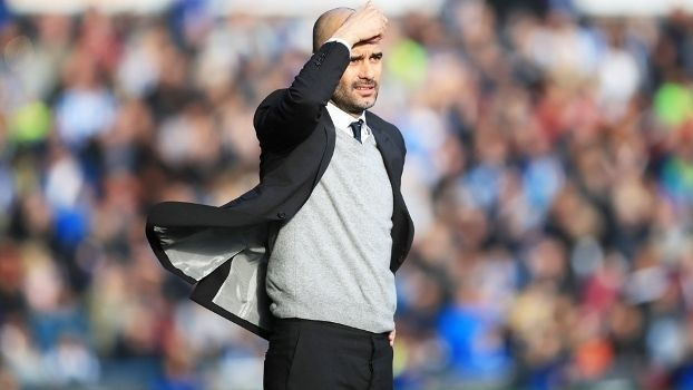 Guardiola Manchester City Huddersfield Town FA Cup 18/02/2017
