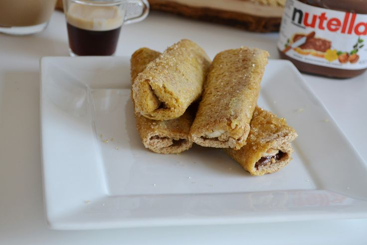 Ρολάκια με nutella, μπανάνα, μπισκότο - Craft Cook Love