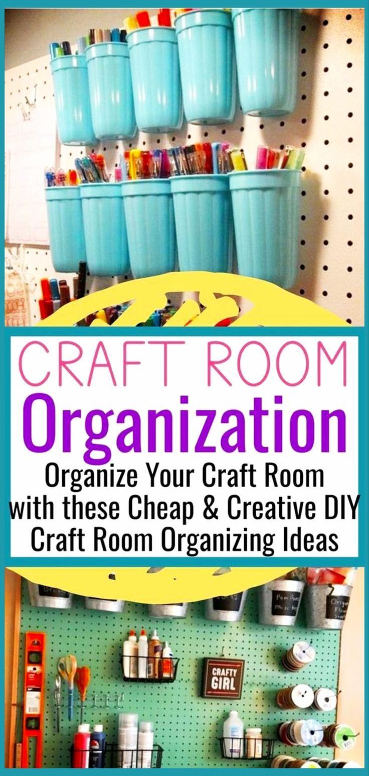 Diy Craftroom Organization Unerwartete Und Kreative Moglichkeiten Ihren Craftroom M Craft Room Organization Diy Diy Craft Room Room Organization Diy Bedroom