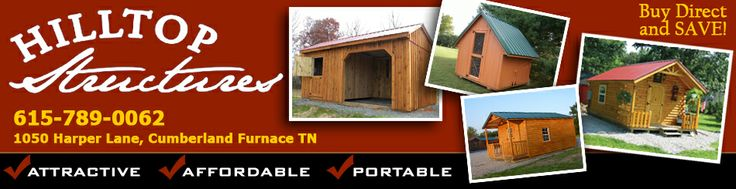Small Log Cabins, Storage Buildings, Horse Barns, Chicken Coops and More!