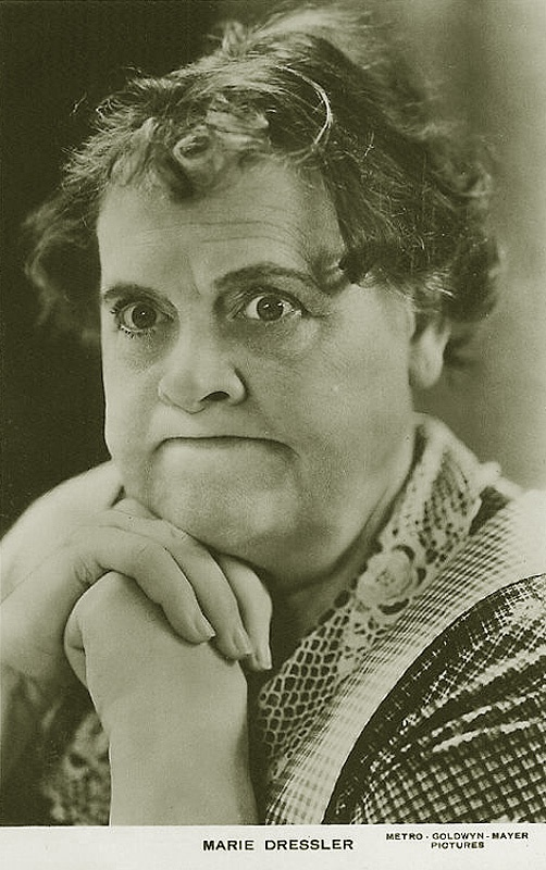 Marie Dressler, Stage Actress and Film Star (Movie Star) - (1868-1934). Born in Canada. Real name was Leila Marie Koerber.