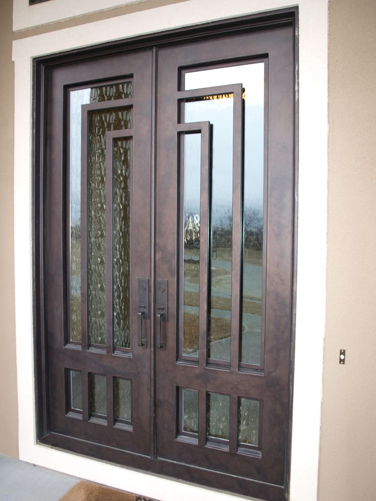 Contemporary iron door from Midwest Iron Doors. Visit us at www.midwestirondoors.com