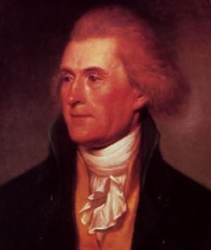 Image of Thomas Jefferson by Charles Wilson Peale, 1791. - Credit: Library of Congress