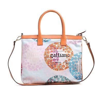 Borsa Donna Galliano Shopping due manici con tracolla in pelle made in italy