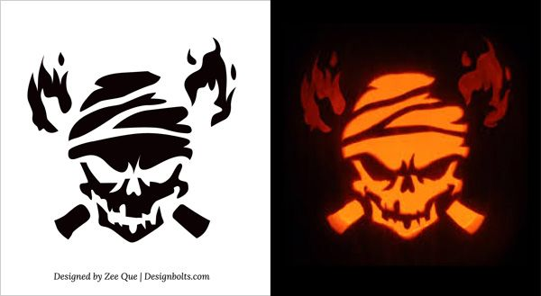10 Free Printable Scary Pumpkin Carving Patterns, Stencils & Ideas ...