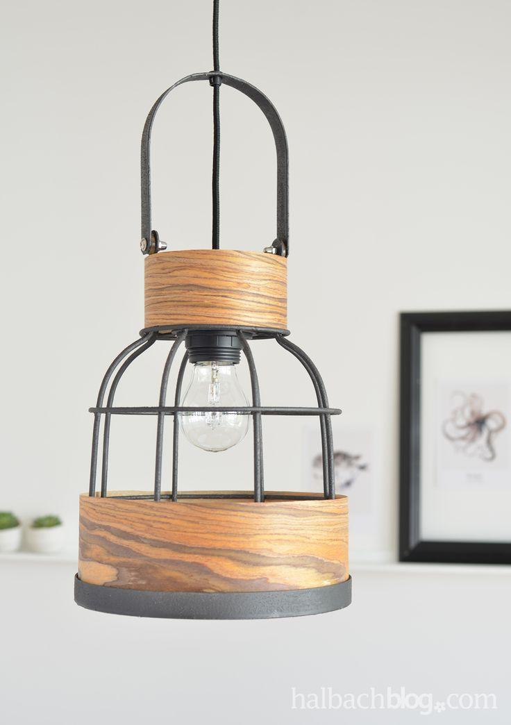 halbachblog i diy anleitung gepimpte lampe mit holzfurnier stoff i wood veneer fabric i. Black Bedroom Furniture Sets. Home Design Ideas