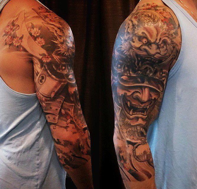 3 4 Tattoo Sleeve Cover: Toronto Tattoo Samurai Warrior 3/4