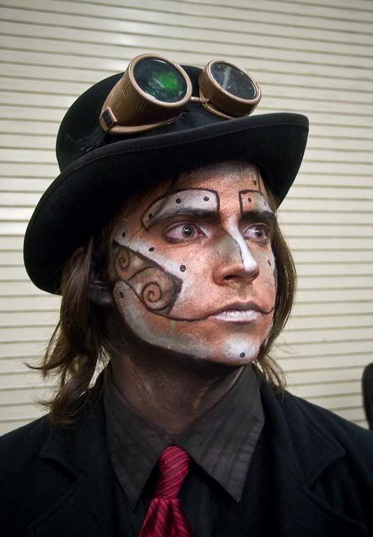 automaton makeup steampunk pinterest steampunk
