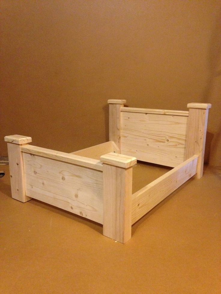 wooden bed dog cat pet 100 solid wood unfinished