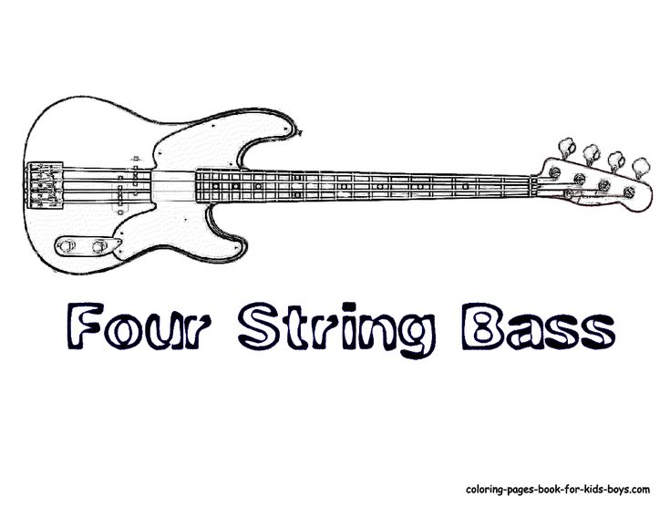 40 best string instrument coloring pages images on Pinterest ...