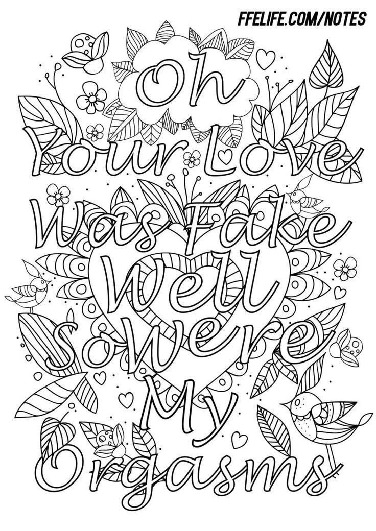 792 best Swear Word Coloring Pages