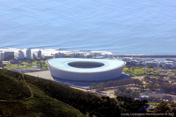 CLP0042 - cape town stadium from table mountain