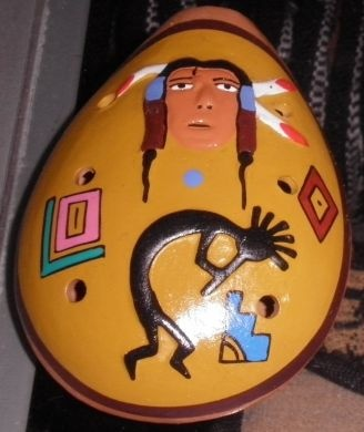 Handbemalte #Okarina aus #Peru, Native Indian 6 Loch #Okarina