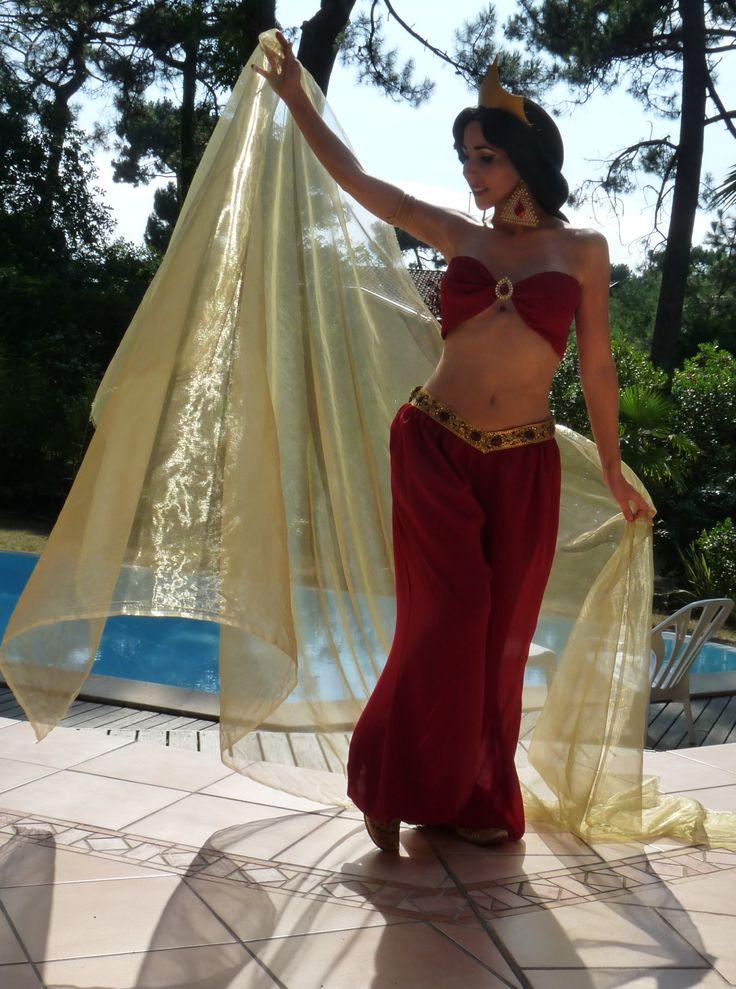 Jasmine from Aladdin Cosplay Slave Red https://www.facebook.com/CosplayLadylili