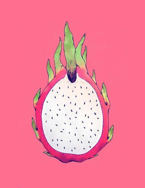 драконий фрукт картинки нарисовать таблице