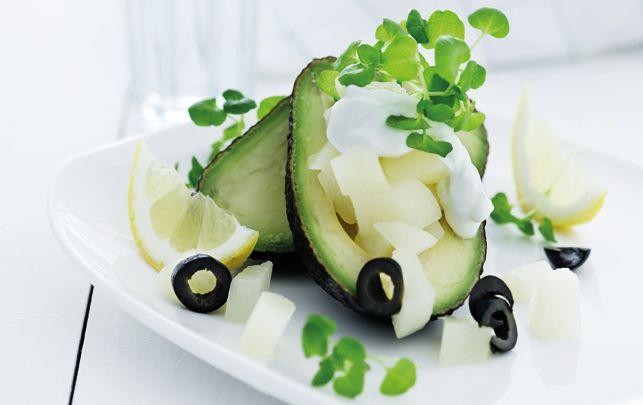 Avokado med pæresalat