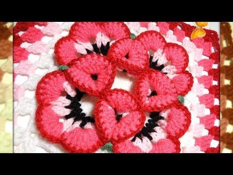Free And Fabulous Crochet 3D Flower Granny Square Pattern – Page 2 of 2 – Pam Vergiza