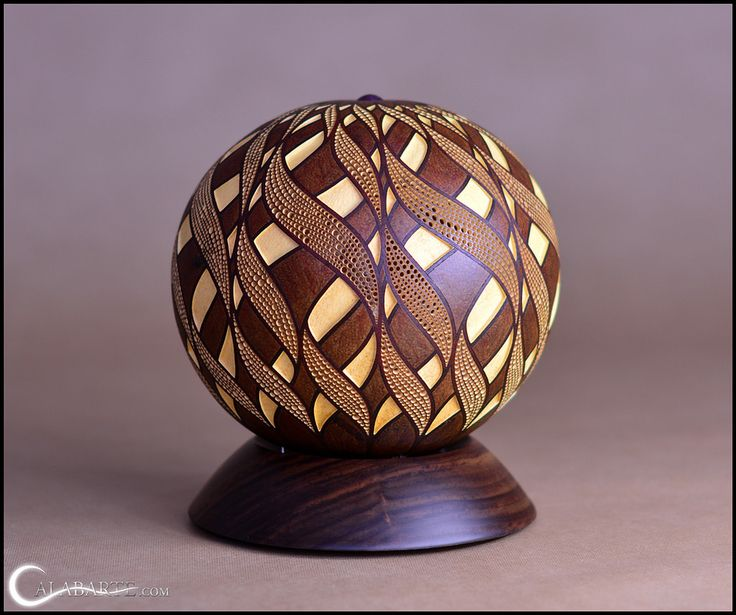 Polish Artist Przemek Krawczyński Transforms Them Into High End Pieces Of  Art. Using Round Calabash Gourds, Krawczyński Makes Intricate, Handcrafted  Lamps.