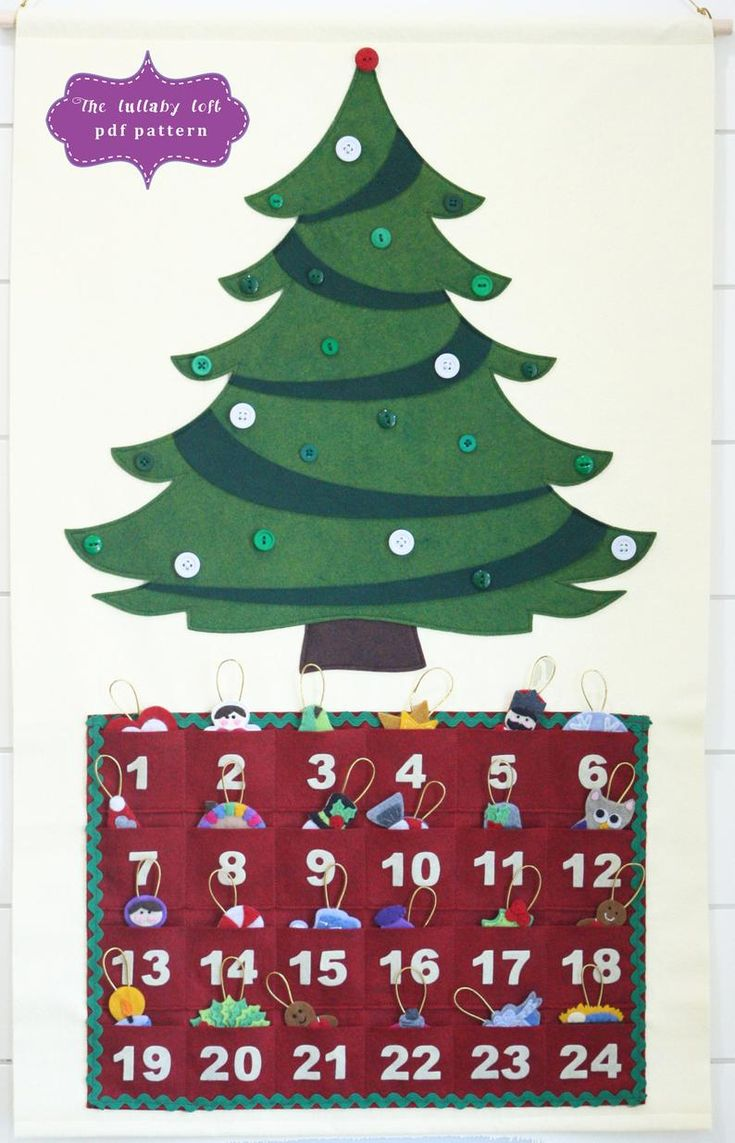 Christmas Tree Advent Calendar Pattern • 29 Ornaments ...