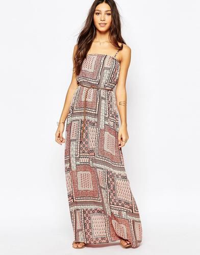 Vila Boho Paisley Chiffon Maxi Dress - Multi #paisleydress #vila #women #covetme