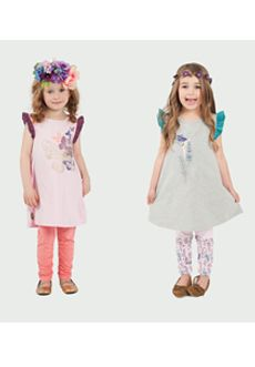 Peekaboo Beans - Flutterby Tunic | Available in 2 colours - sizes 2-7. | www.peekaboobeans.com