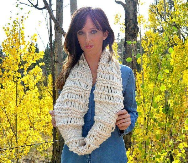 chunky infinity scarf knitting pattern
