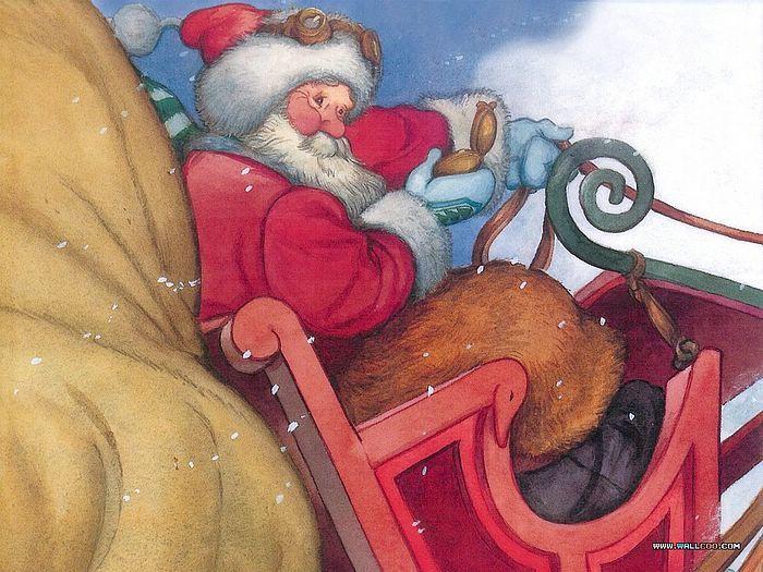 reindeer and Santa art - Google Search